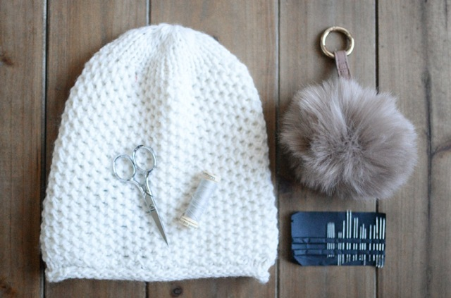 Picture Of Cute And Cozy DIY Pom Pom Beanie 2