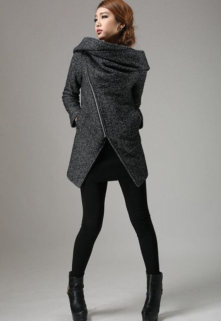 Picture Of Wonderful Asymmetrical Zip Coats For Winter 13