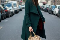 18 Chic Emerald Coats For Winter11