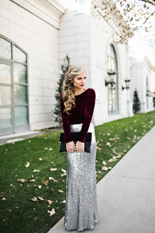20 Best Ways To Rock Sequin Maxi Skirt This Holiday Season