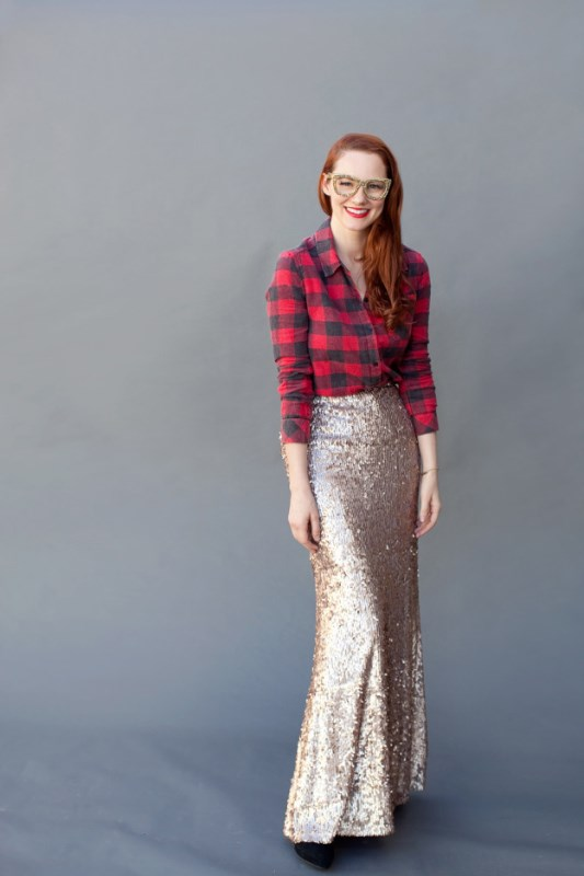 Picture Of best ways to rock sequin maxi skirt this holiday season  20