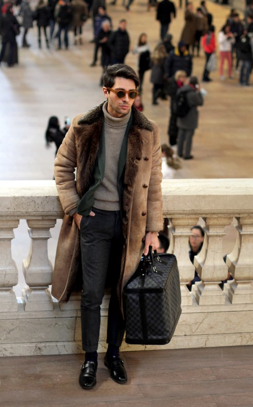 20 most stylish winter street style looks for men. Black Bedroom Furniture Sets. Home Design Ideas