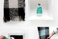 Cute DIY Dip-Dye Plaid Scarf2