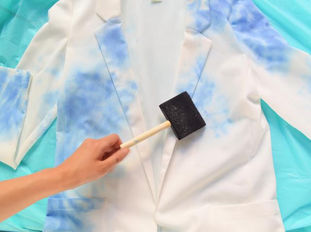 Dreamy And Romantic DIY Watercolor Blazer