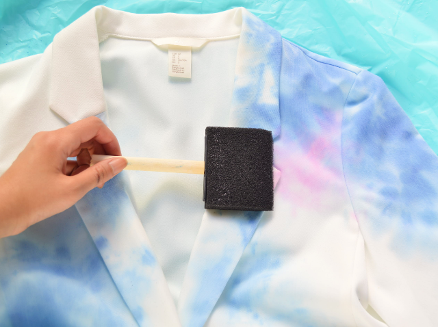 Picture Of Dreamy DIY Watercolor Blazer 5