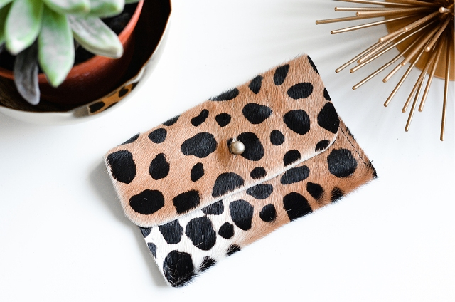 Eye Catching DIY Leopard Mini Pouch