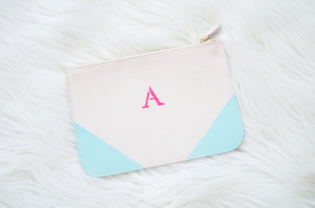 DIY Color Block Monogram Clutch Or Pouch