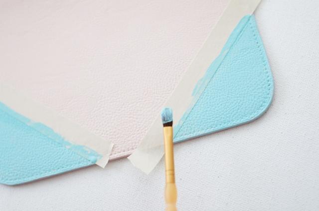 DIY Color Block Monogram Clutch Or Pouch