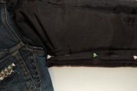 Original DIY Leather Sleeved Denim Jacket5