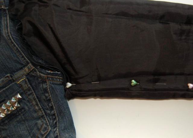 Picture Of Original DIY Leather Sleeved Denim Jacket 5