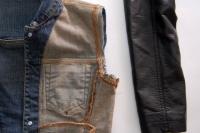 Original DIY Leather Sleeved Denim Jacket9