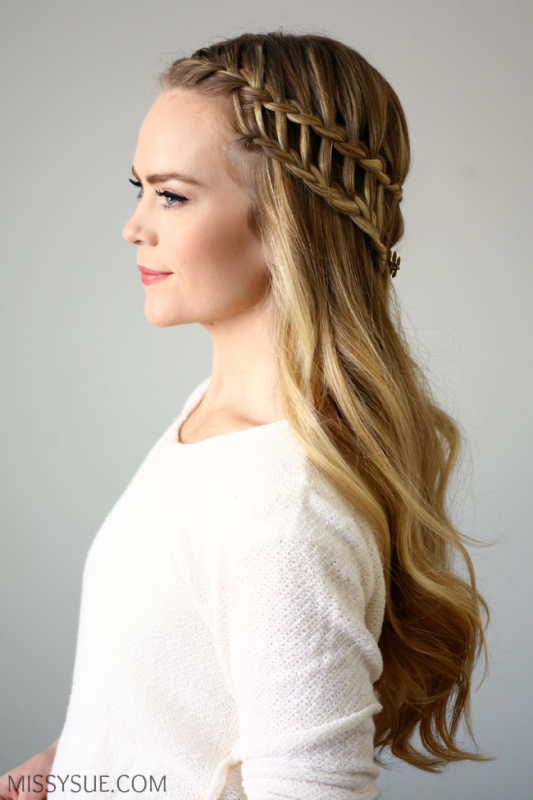 Picture Of boho inspired diy half up ladder braid to try  1