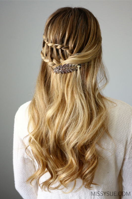 Picture Of boho inspired diy half up ladder braid to try  2