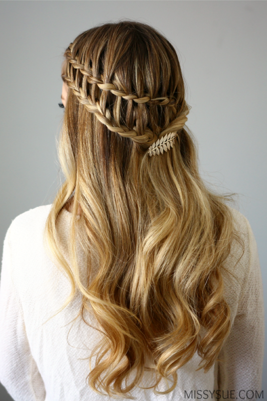 Picture Of boho inspired diy half up ladder braid to try  3