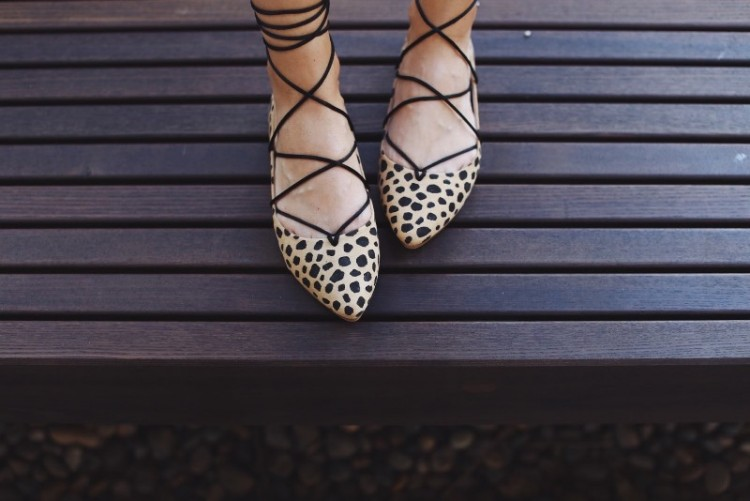 Chic DIY Leopard Lace Up Flats For A Party