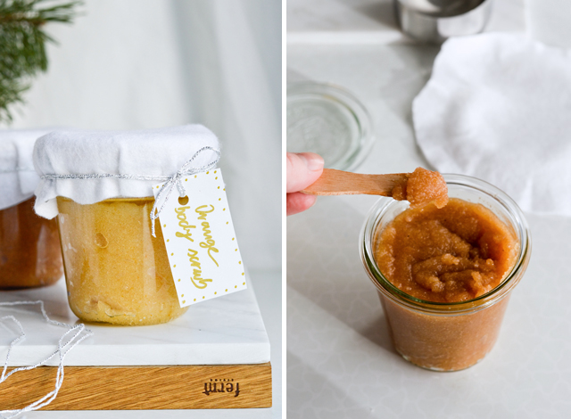 DIY Cinnamon Orange Sugar Scrub For Christmas