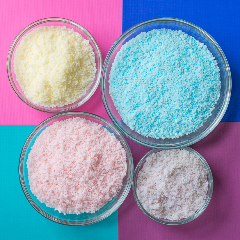 Picture Of diy colorful baked bath salts for christmas gifts  1