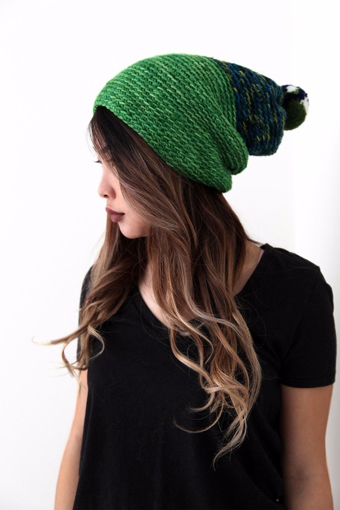DIY Crochet Alpine Pom-Pom Hat For Winter