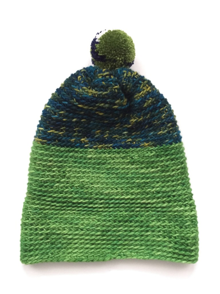 Picture Of diy crochet alpine pompom hat  4