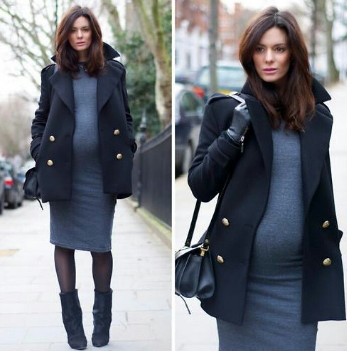 Picture Of elegant and comfy maternity outfits for work  11
