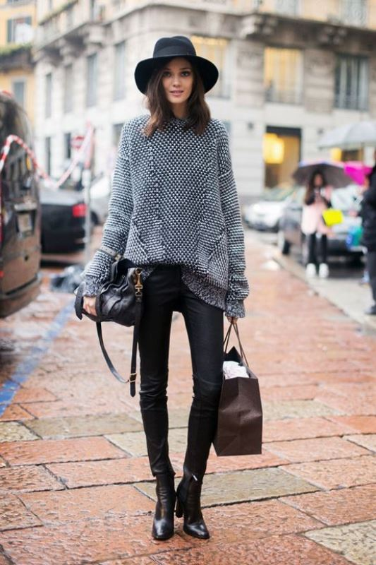 Picture Of how to tuck in oversized sweaters 18 perfectly stylish looks  2