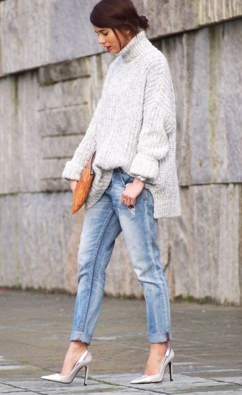Picture Of how to tuck in oversized sweaters 18 perfectly stylish looks  3