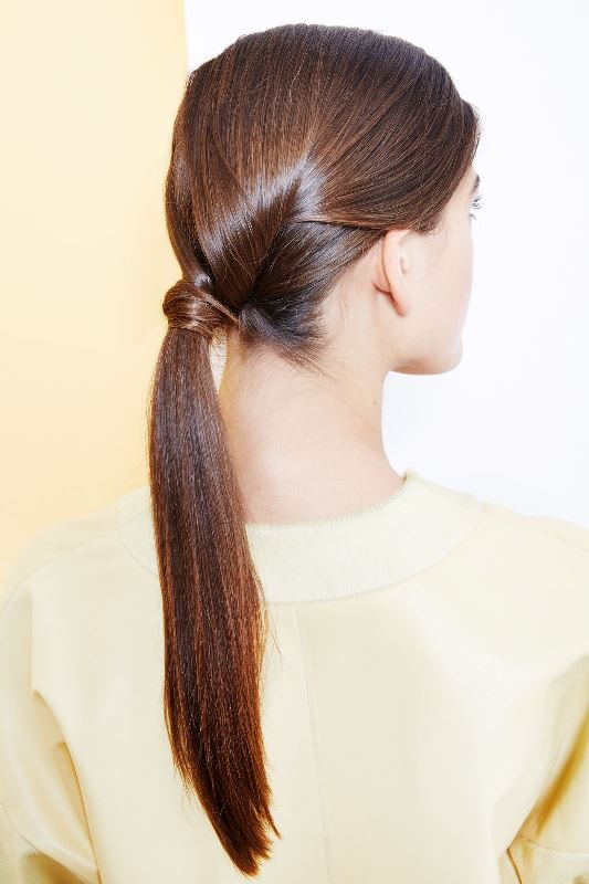 Sleek And Modern DIY Hidden-Twist Ponytail