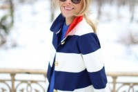 15 Awesome Striped Coats For Ladies11