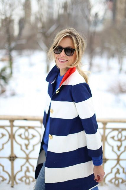 Awesome Striped Coats For Ladies