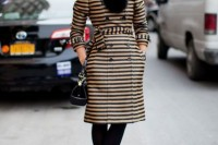 15 Awesome Striped Coats For Ladies12