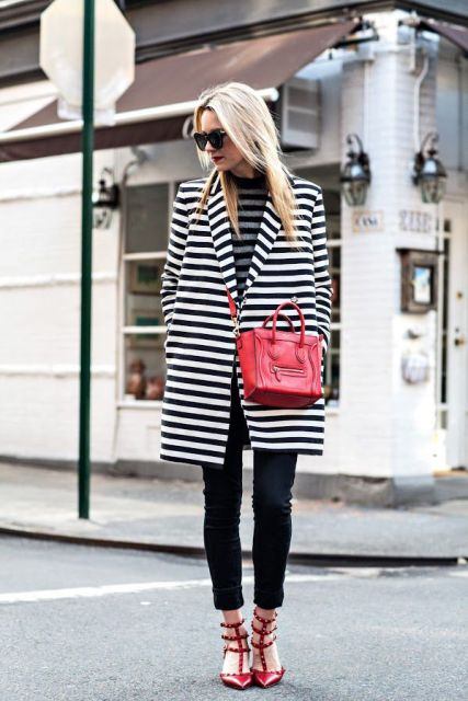 15 Awesome Striped Coats For Ladies