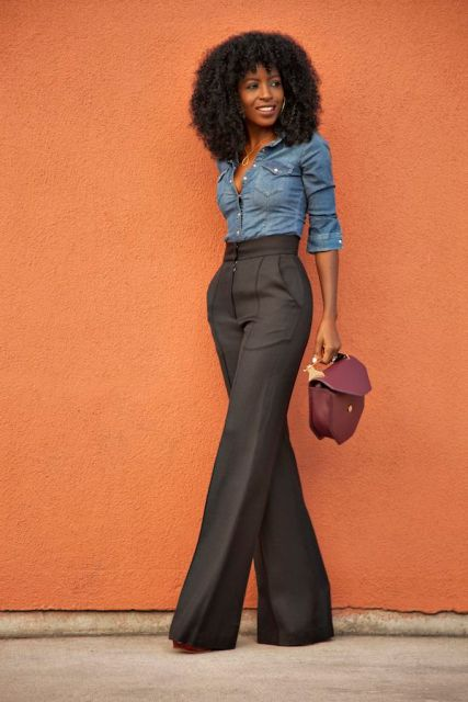 Picture Of Cool Ways To Wear Wide Leg Trousers 11