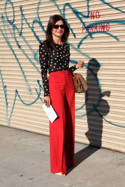 Picture Of Cool Ways To Wear Wide Leg Trousers 12