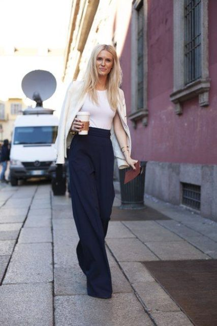 Picture Of Cool Ways To Wear Wide Leg Trousers 13