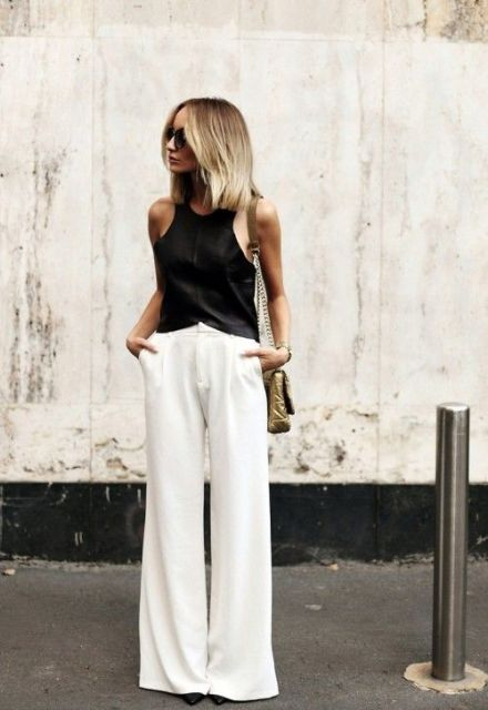 Picture Of Cool Ways To Wear Wide Leg Trousers 16