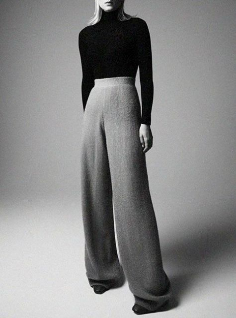 Picture Of Cool Ways To Wear Wide Leg Trousers 3
