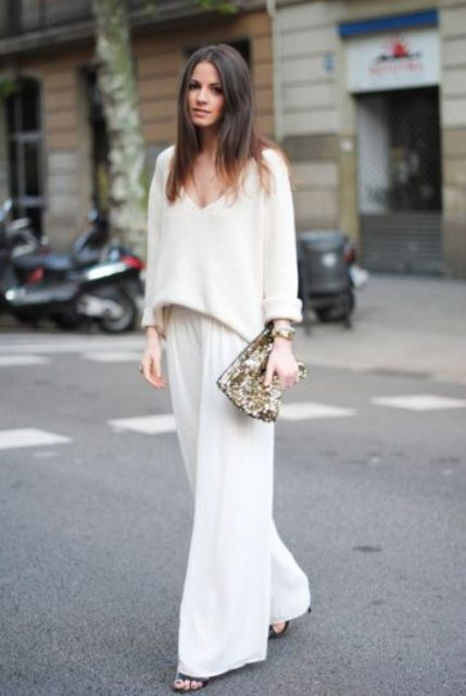 Picture Of Cool Ways To Wear Wide Leg Trousers 4