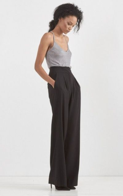 Picture Of Cool Ways To Wear Wide Leg Trousers 5