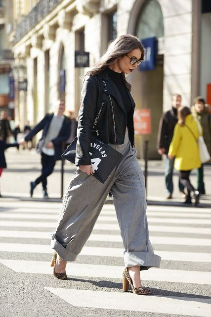 Picture Of Cool Ways To Wear Wide Leg Trousers 6