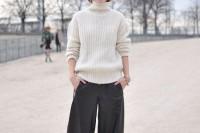 16 Cool Ways To Wear Wide-Leg Trousers8