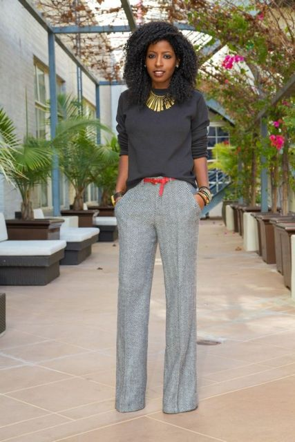 Picture Of Cool Ways To Wear Wide Leg Trousers 9