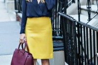 16 Feminine Outfits With A Wrap Front Blouse 15