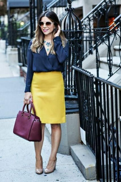 Feminine Outfits With A Wrap Front Blouse
