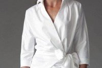 16 Feminine Outfits With A Wrap Front Blouse 4