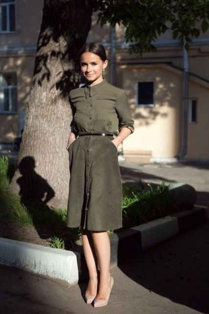 Picture Of Feminine Suede Skirt Outfits 12