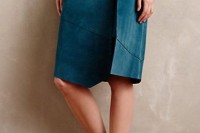 16 Feminine Suede Skirt Outfits14