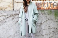 17 Charming Mint Coats For This Season11
