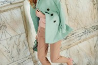 17 Charming Mint Coats For This Season13