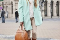17 Charming Mint Coats For This Season9
