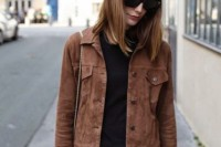 18 Suede Jacket Outfits For Stylish Ladies